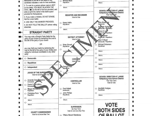 Adams County Sample Ballots